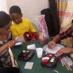 Face painting under way