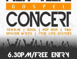 New Life Concert flyer